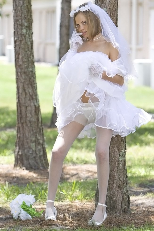 Panty hose wedding