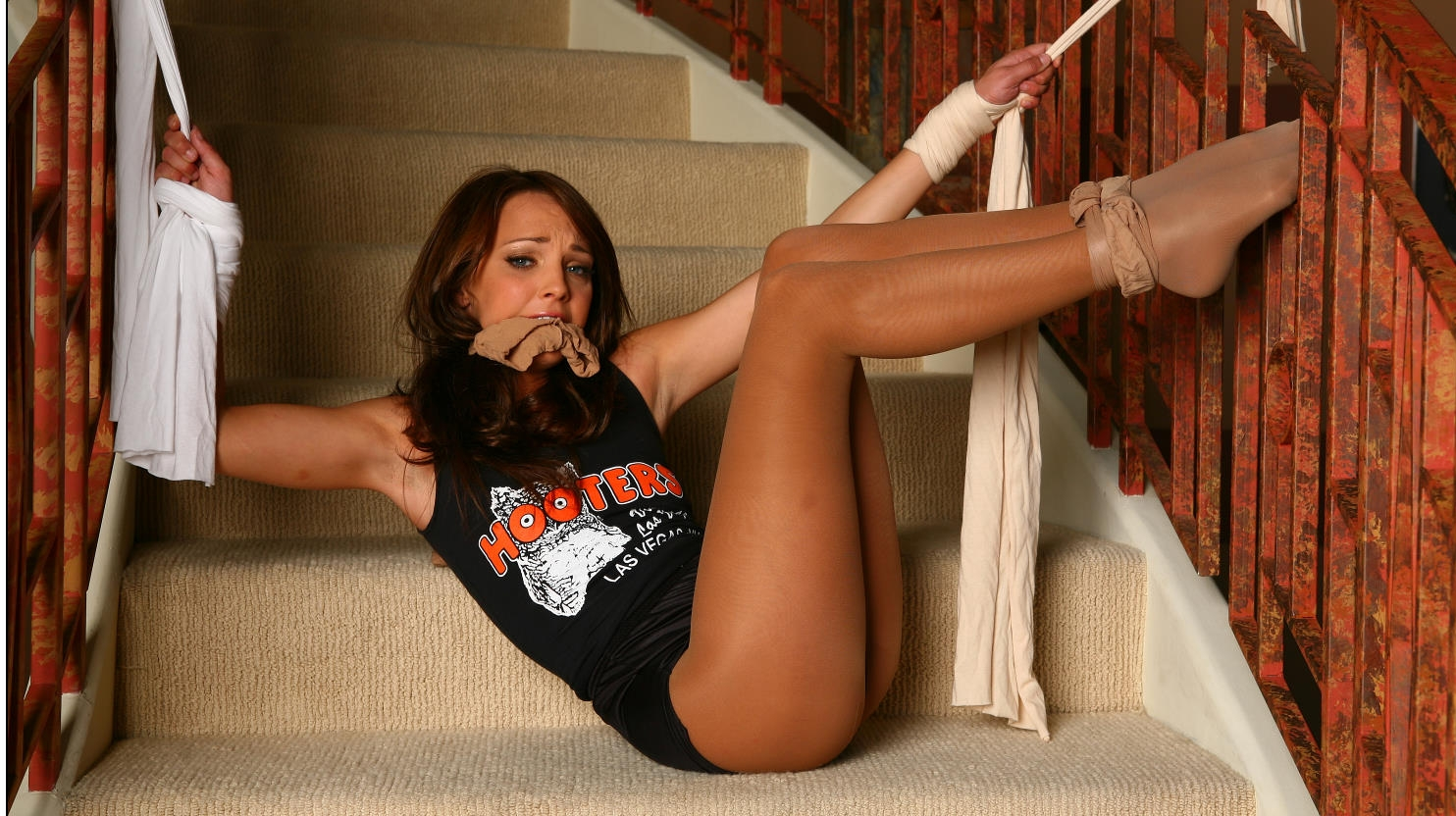 hooters black pantyhose