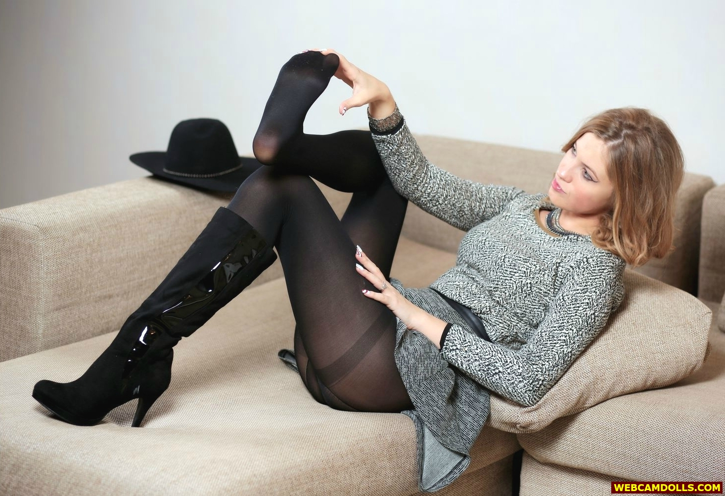 tights porn opaque Black